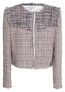 Iro Woman Frayed Cotton-blend Tweed Jacket Multicolor