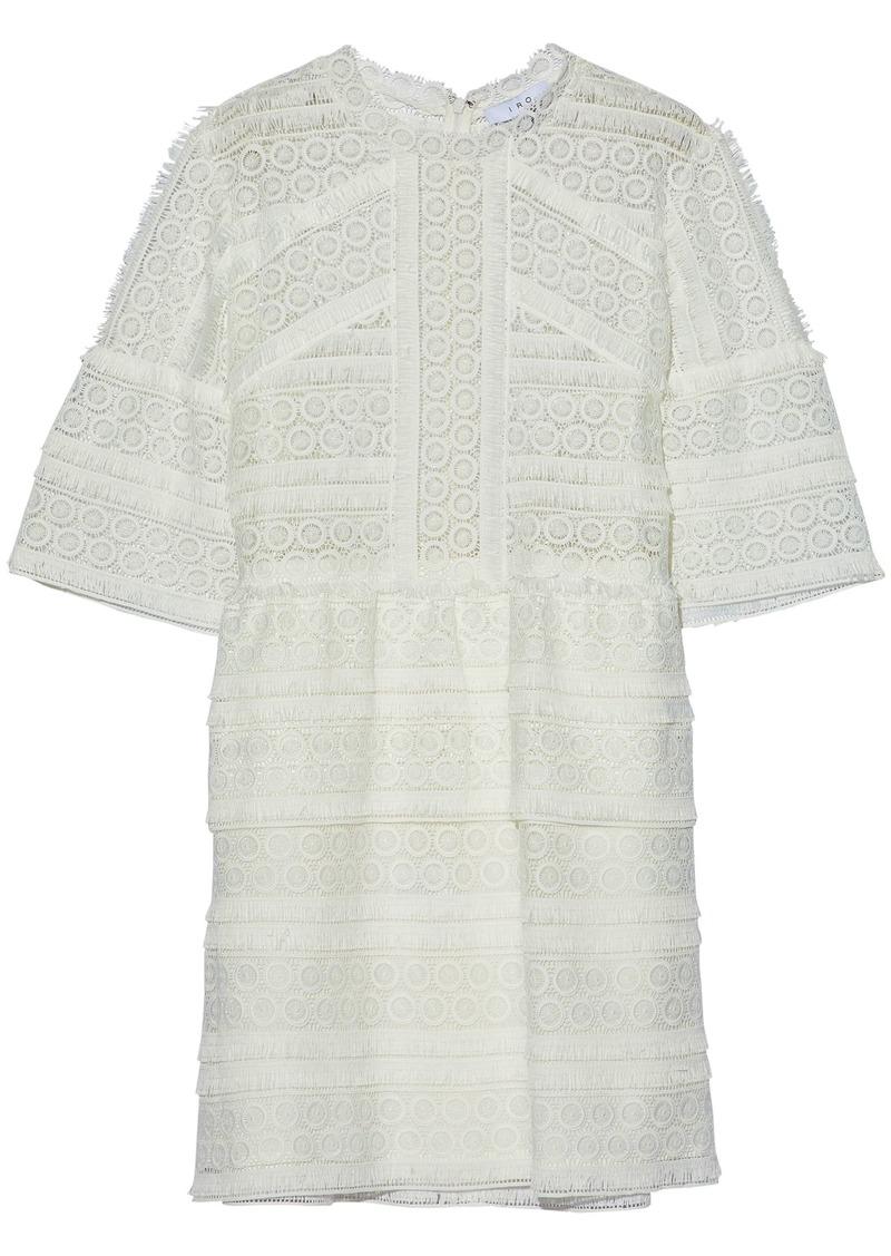 Iro Woman Fringed Guipure Lace Mini Dress White