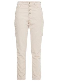 Iro Woman Gaemy Cotton-blend Corduroy Slim-leg Pants Beige