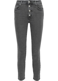 Iro Woman Gaety Faded High-rise Skinny Jeans Anthracite