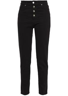 Iro Woman High-rise Slim-leg Jeans Black