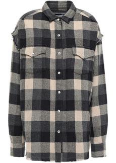 Iro Woman Garance Oversized Checked Cotton-blend Flannel Shirt Black