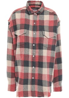 Iro Woman Garance Oversized Checked Cotton-blend Flannel Shirt Brick