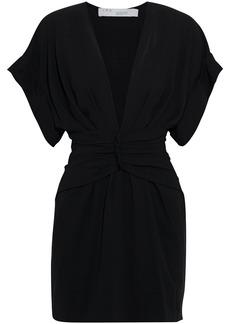 Iro Woman Gastona Ruched Crepe Mini Dress Black