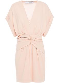 Iro Woman Gastona Ruched Crepe Mini Dress Peach