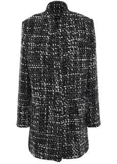 Iro Woman Golden Bouclé-tweed Coat Black