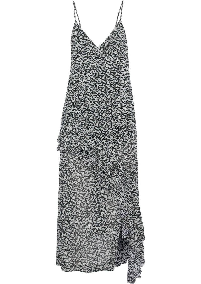 Iro Woman Granby Wrap-effect Printed Crepe De Chine Midi Dress Off-white