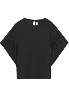 Iro Woman Hail Draped Gauze Blouse Black