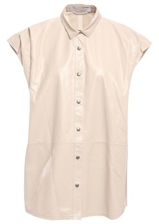 Iro Woman Hally Textured-leather Shirt Cream