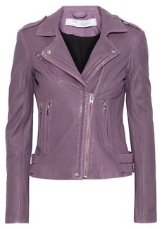 Iro Woman Han Washed-leather Biker Jacket Violet