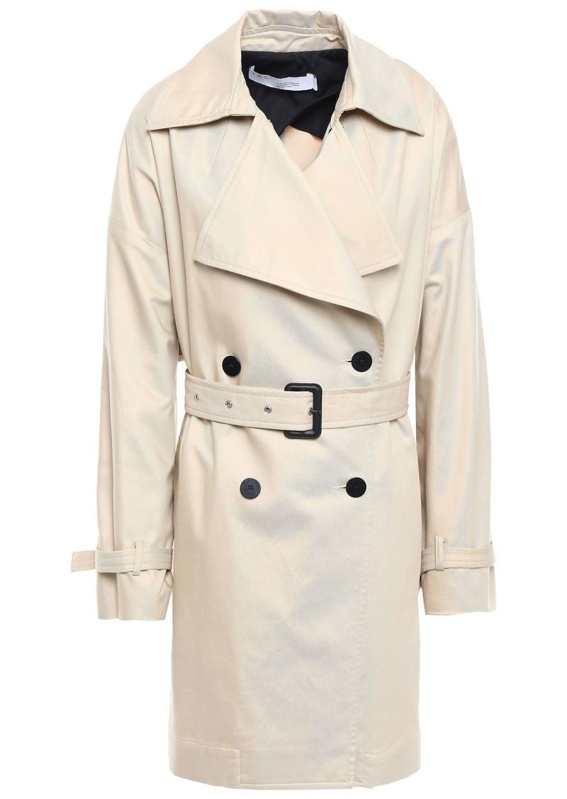 Iro Woman Harper Cotton-blend Gabardine Trench Coat Cream