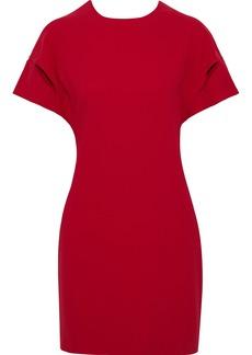 Iro Woman Hilda Open-back Draped Crepe Mini Dress Crimson