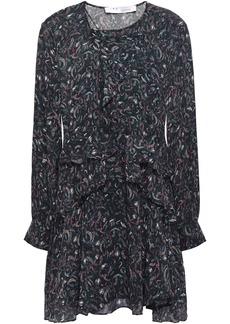 Iro Woman Honess Ruffled Printed Georgette Mini Dress Black
