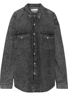 Iro Woman Horizon Faded Denim Shirt Black