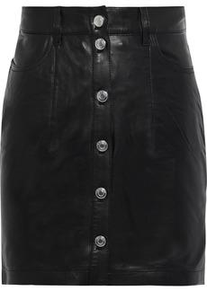 Iro Woman Igonia Leather Mini Skirt Black