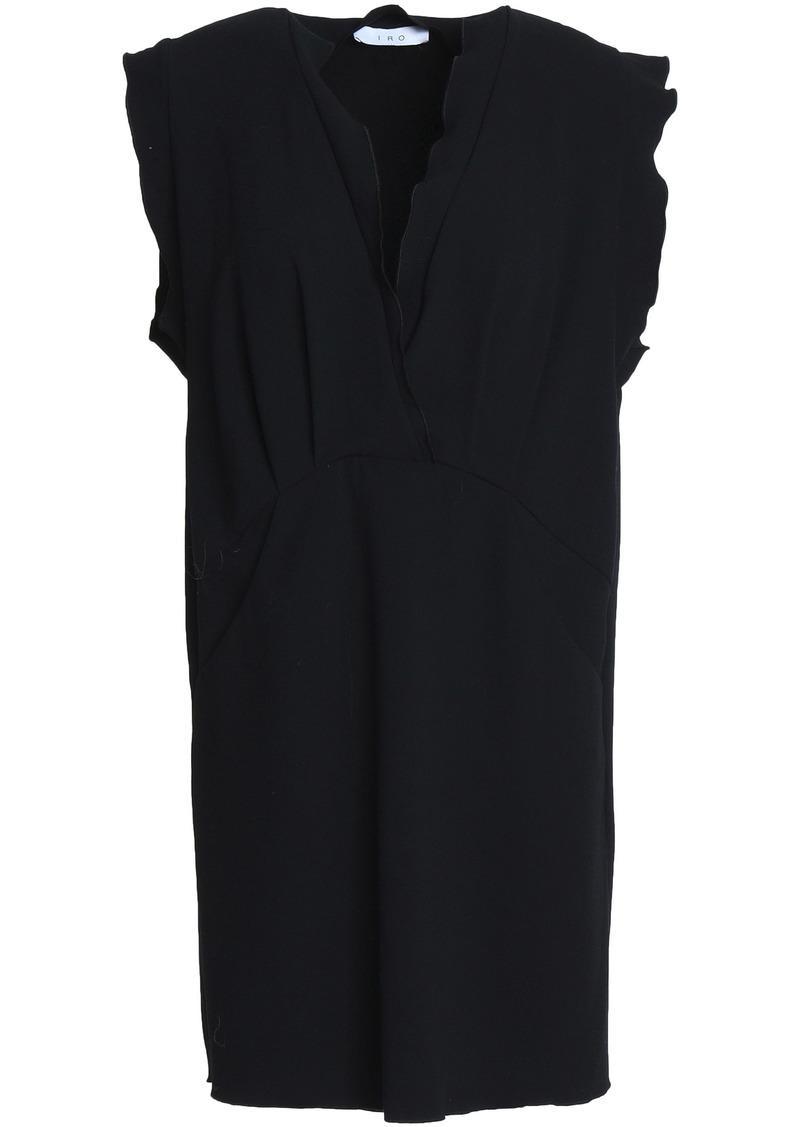 Iro Woman Ilford Ruffle-trimmed Crepe Mini Dress Black