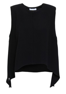 Iro Woman Iseed Draped Crepe Top Black