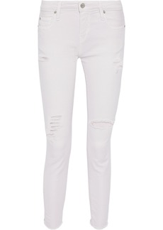 Iro Woman Jarod Cropped Distressed Low-rise Skinny Jeans Pastel Pink
