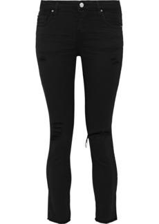 Iro Woman Jarod Cropped Distressed Mid-rise Skinny Jeans Black
