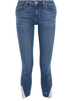 Iro Woman Jarod Cropped Distressed Mid-rise Skinny Jeans Mid Denim