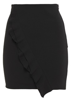 Iro Woman Jipy Ruffled Stretch-crepe Mini Skirt Black