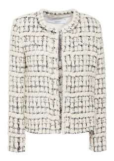 Iro Woman Juliana Metallic Bouclé-tweed Jacket Ecru