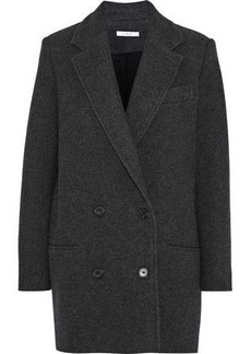 Iro Woman Kalso Double-breasted Wool-blend Twill Coat Anthracite