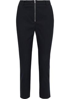 Iro Woman Keeler Cropped Cotton-blend Slim-leg Pants Black