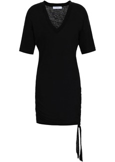 Iro Woman Keraba Lace-up Slub Linen-jersey Mini Dress Black