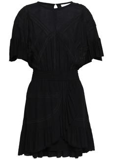 Iro Woman Lace-trimmed Crepe Mini Dress Black