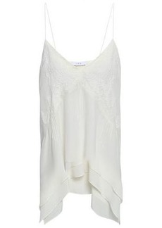 Iro Woman Lace-trimmed Silk Crepe De Chine Camisole White