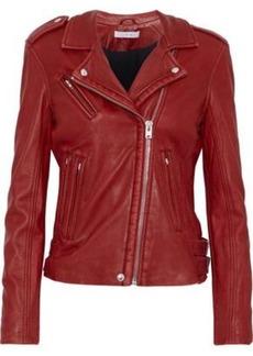 Iro Woman Leather Biker Jacket Red
