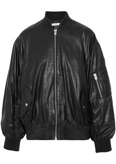 Iro Woman Leather Bomber Jacket Black