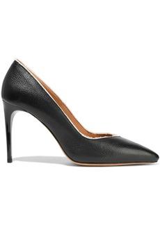 Iro Woman Lisa Fringe-trimmed Pebbled-leather Pumps Black