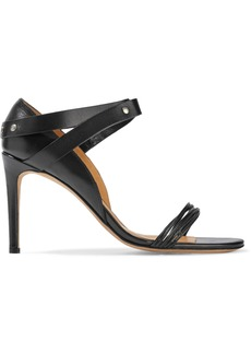 Iro Woman Lorena Studded Leather Sandals Black