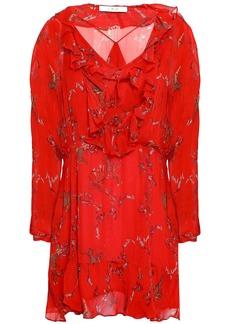 Iro Woman Lucine Ruffled Printed Georgette Mini Dress Red