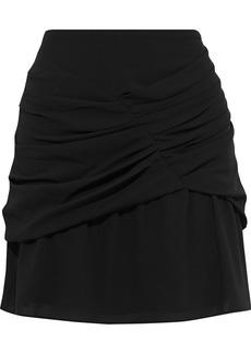 Iro Woman Lussac Layered Ruched Crepe Mini Skirt Black