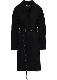 Iro Woman Mamos Cotton-gabardine Trench Coat Black