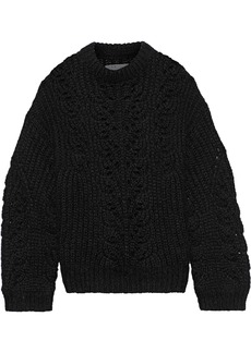 Iro Woman Markle Brushed Open-knit Sweater Black