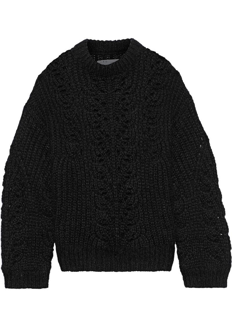 Iro Woman Markle Brushed Open-knit Sweater Black