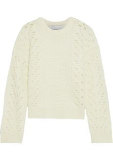 Iro Woman Markyl Brushed Pointelle-knit Sweater Ivory