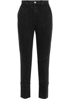 Iro Woman Mattie Cropped High-rise Slim-leg Jeans Black