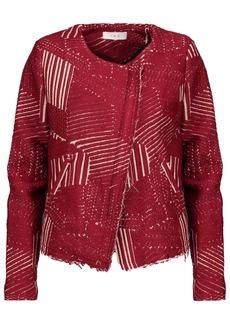 Iro Woman Mepsie Metallic Jacquard Jacket Claret