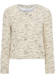 Iro Woman Mercie Cotton-blend Bouclé-tweed Jacket Cream
