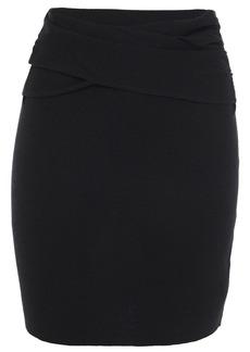 Iro Woman Merino Wool And Cashmere-blend Mini Skirt Black