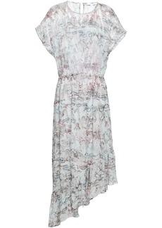 Iro Woman Metallic Silk-blend Jacquard  Midi Dress Light Gray