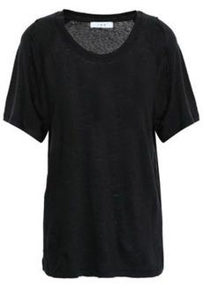 Iro Woman Milna Slub Linen-jersey T-shirt Black