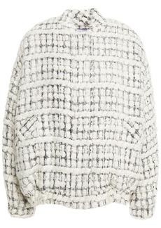 Iro Woman Molina Oversized Metallic Bouclé-tweed Bomber Jacket Ecru