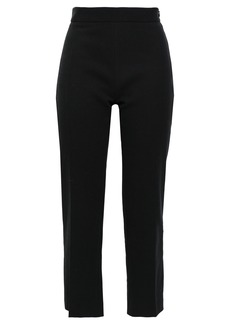 Iro Woman Moore Cropped Cotton Slim-leg Pants Black