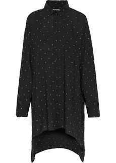 Iro Woman Muze Printed Gauze Mini Dress Black